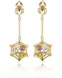 Manja - Anansi Earrings Gold - Lyst