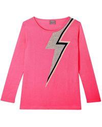 Orwell + Austen Cashmere - Bowie Sweater In Pink - Lyst