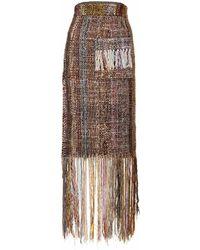 Jiri Kalfar - Skirt With Fringes - Lyst