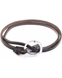 Anchor & Crew | Dark Brown Ketch Silver & Leather Bracelet | Lyst
