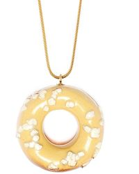 Tadam! Design - Doughnut With White Chocolate Sprinkles (gold Chain) - Lyst