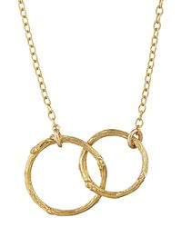 Chupi - Just The Two Of Us Hawthorn Twig Circle Necklace In Gold - Lyst