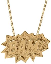 Edge Only Bam Pendant Xl Long In Gold