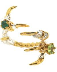 Tessa Metcalfe - Grasp Claws With Emerald And Peridot - Lyst