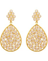 Carousel Jewels - Sliced Crystal Teardrop Earrings - Lyst