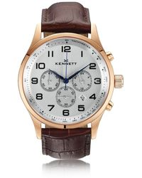 Kennett Watches | Savro Rose Gold Dark Brown Modern | Lyst