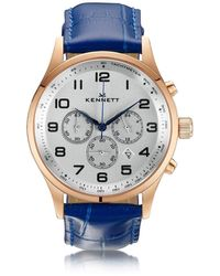 Kennett Watches - Savro Rose Gold Royal Blue Modern - Lyst