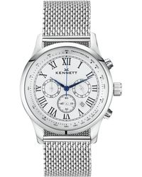 Kennett Watches | Savro Silver White Milanese | Lyst