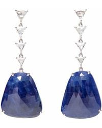 Ri Noor - Sapphire Slice Diamond Earrings - Lyst