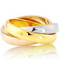 Auree - Walton Three Colour 9ct Gold Russian Wedding Ring - Lyst