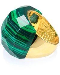 Ona Chan Jewelry - Lattice Round Cocktail Ring Malachite - Lyst