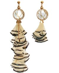 Nocturne - Ray Feather Earrings Stud - Lyst