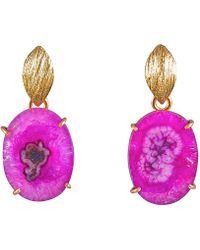 Magpie Rose | Pink Solar Quartz Earrings | Lyst