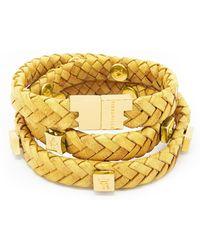 Tissuville - Brio Bracelet Mustard Gold - Lyst