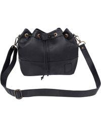 MAHI - Classic Bucket Drawstring Duffle Bag In Black Leather - Lyst