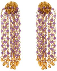 Carousel Jewels - Amethyst Waterfall Earrings - Lyst