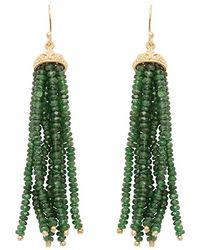 Carousel Jewels - Gold & Chrysoprase Waterfall Earrings - Lyst