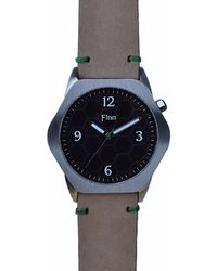 Finn Watches - The Causeway Black With Tan Strap - Lyst