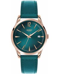 Henry London - Ladies 39mm Stratford Mallard Green Leather Watch - Lyst