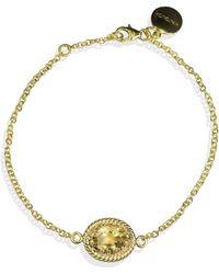 Vintouch Italy - Luccichio Gold Vermeil Citrine Bracelet - Lyst
