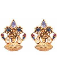 Carousel Jewels - Dyed Crystal Clustered Studs - Lyst