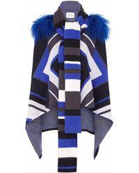 Hayley Menzies - Short Zig Zag Blanket Blue - Lyst