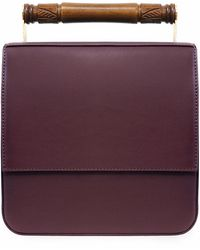 AEVHA - Helve Crossbody In Mulberry With Wooden Handle - Lyst