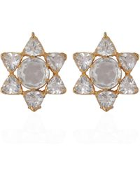 Emma Chapman Jewels - Lakshmi Rose Cut Crystal Earrings - Lyst