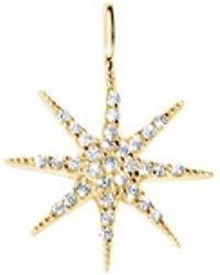 Talia Naomi - Mini Supernova Pendant Gold - Lyst