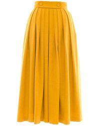 Victor Xenia London - Olia Skirt Mustard - Lyst