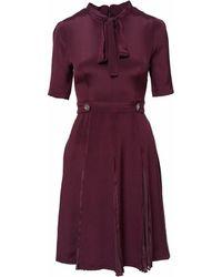 SHOPYTE - Burgundy Silk Dress - Lyst
