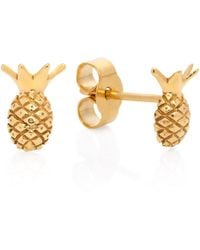 Lee Renee - Pineapple Stud Earrings - Lyst