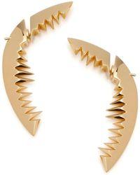 Kasun | Shark Bay Earrings Gold | Lyst
