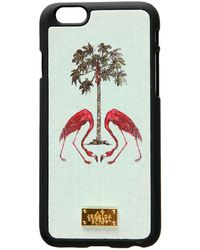 Jessica Russell Flint - Leather Coated Iphone 6 Case Flamingo's Under The Palm Tree - Lyst