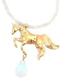 Leivan Kash - Unicorn Necklace Moonstone - Lyst