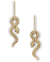 Nayla Arida - Snake Charms Earrings - Lyst