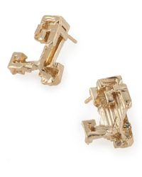 Noritamy | Gold Stud Earrings | Lyst