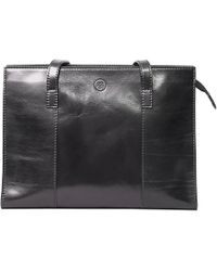 Maxwell Scott Bags - Luxury Italian Leather Women's Tote Handbag Scala Night Black - Lyst