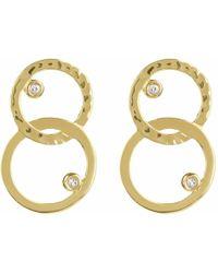 Neola - Gold Hoop Earrings - Lyst