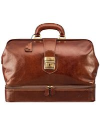 Maxwell Scott Bags - Luxury Italian Leather Doctor Bag Large Donnini Chestnut Tan - Lyst