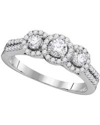 Cosanuova - 3-stone Diamond Engagement Ring In 14k White Gold - Lyst