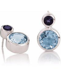 Manja - Lana Blue Topaz & Iolite Earrings - Lyst