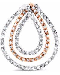 Cosanuova - Diamond Loop Pendant 14k Gold - Lyst