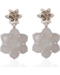 Emma Chapman Jewels - Jamila Grey Moonstone Diamond Earrings - Lyst