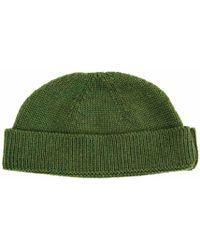 new concept 0f12e 80440 40 Colori - Green Solid Wool Fisherman Beanie - Lyst