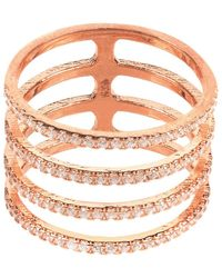 LÁTELITA London - Four Line Geometric Fashion Ring Rosegold - Lyst