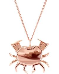 Origami Jewellery - Crab Necklace Rose Gold - Lyst