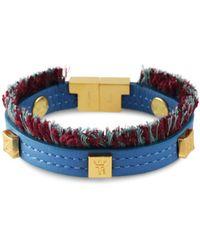 Tissuville - Flik Mini Bracelet Azure Gold - Lyst