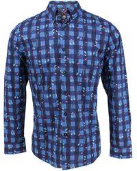 6ceb47dd8a43 Hope Black Flower Print Button-down Shirt in White for Men - Lyst