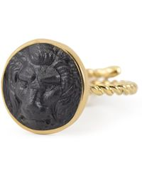 Vintouch Italy - Lion Cameo Ring - Lyst